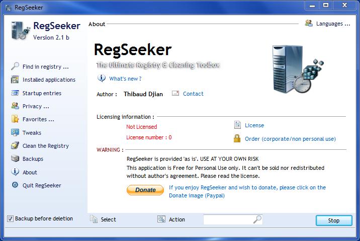 Free Download RegSeeker