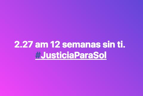 #JusticiaParaSol