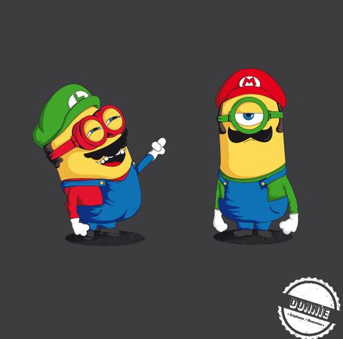 Mario y Luigi a lo minion ^^