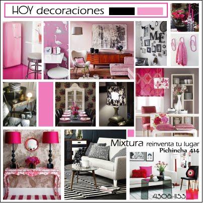 Combinar rosa y negro en la gusta medida aportan energia y glamour