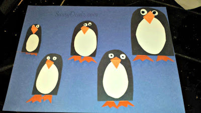 penguin counting goldfish craft