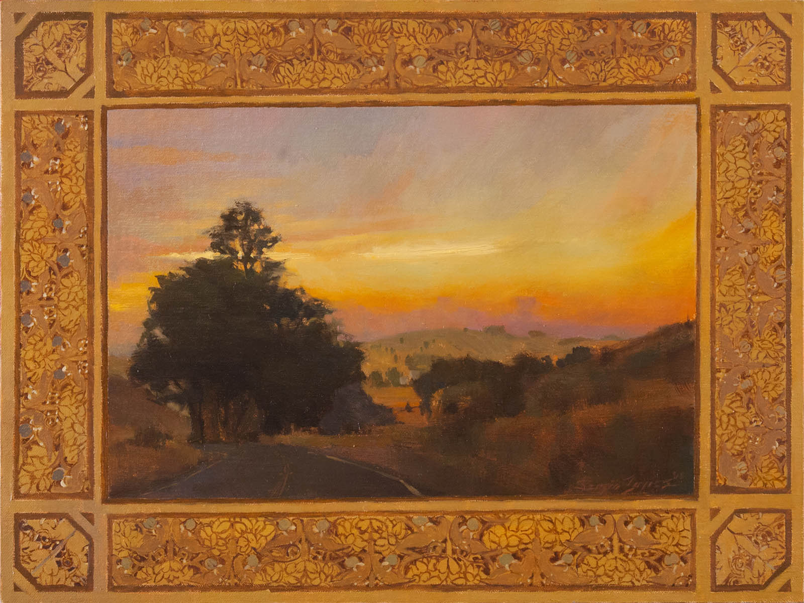The main loop landscapes and patterns for Art and craft painting
