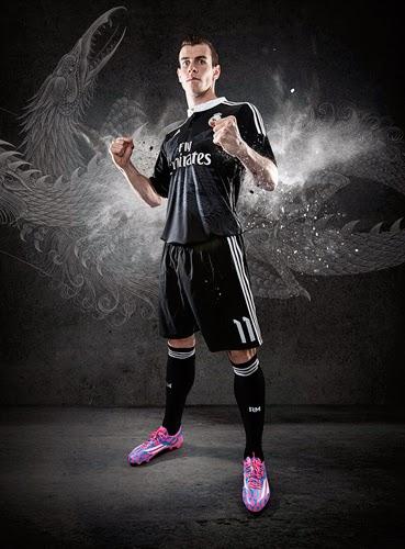 equipación Real Madrid Champions negra dragones