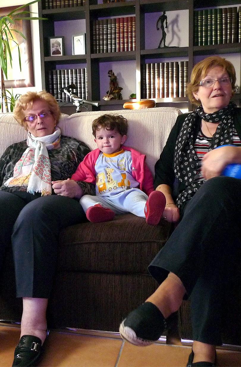 Abuelos, padres e hijos