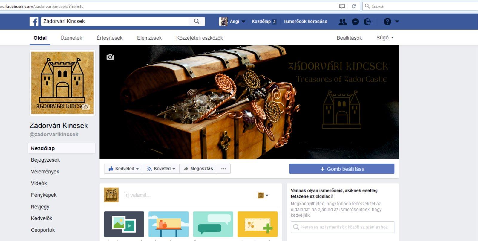 Nézd meg Kincseinket a Facebookon is!