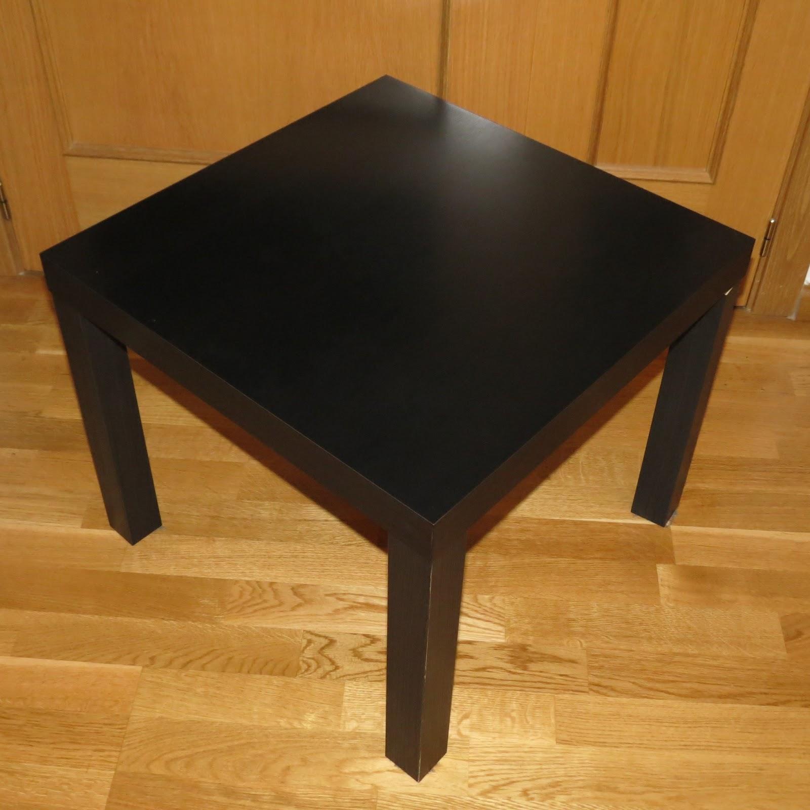 VENDEMOS NUESTRAS COSAS: Mesa auxiliar IKEA Lack Negra 5 - photo#43