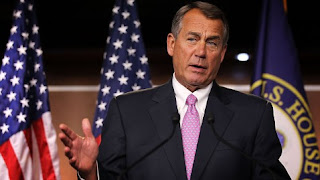 Capitol Hill Boehner reports no progress on fiscall cliff with deadline in three weeks.