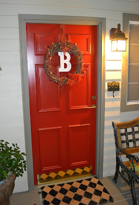 autumn wreath door