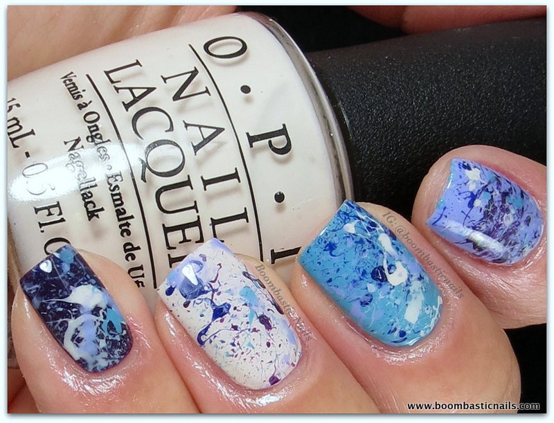 Boombastic Nails: Splatter Manicure using OPI Euro Centrale Collection