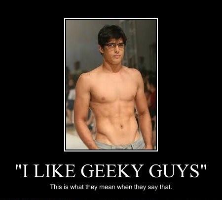Geeky guy