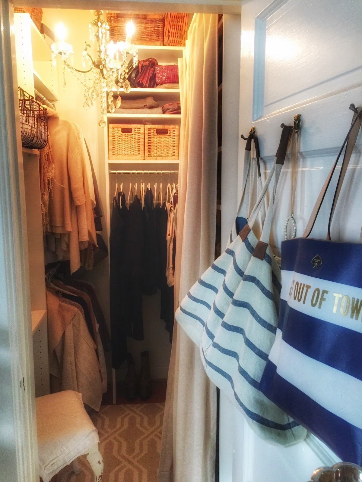 Quarters One My Sweet Newly Organized Bedroom Closet