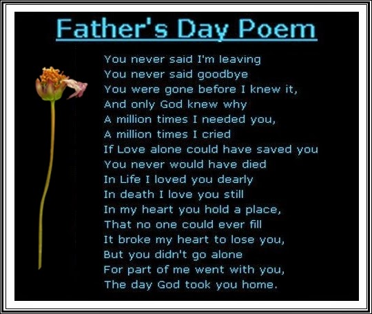 life with father poem