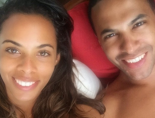Rochelle Humes boasts flawless freckled skin in sunbathing snap in the Maldives