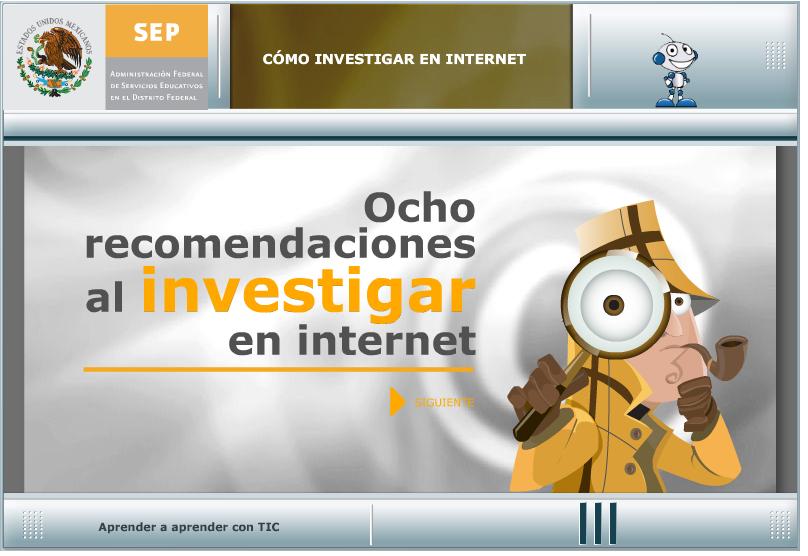 Investigar en internet