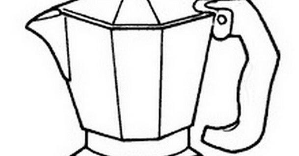 Dibujo Views: Cafetera portátil para colorear