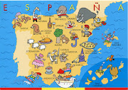Spain is my favourite country. The weather in the capital cityMadridis . (spain map card)