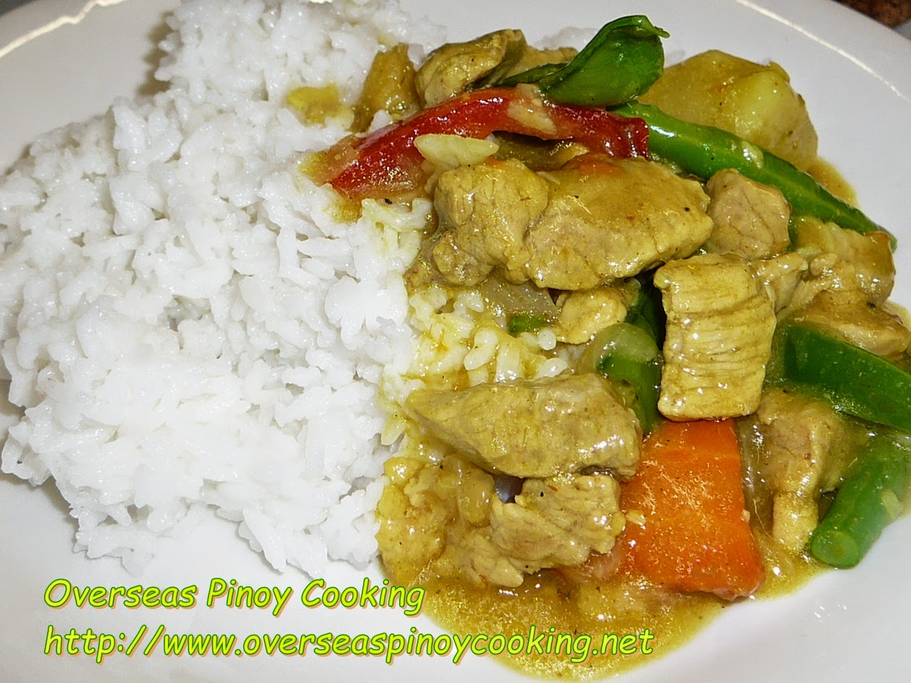 Pinoy Pork Curry Rice