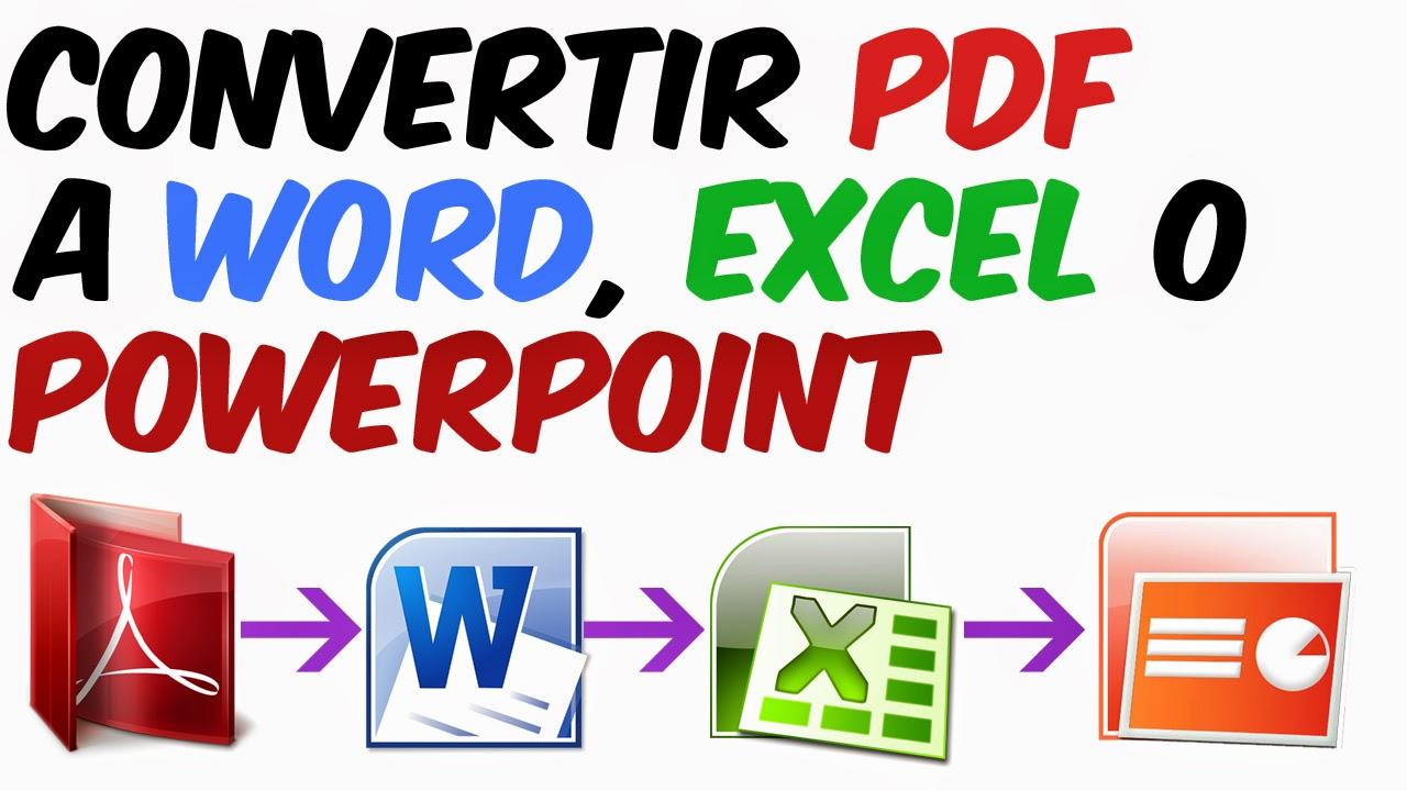 como convertir un pdf a word excel powerpoint facil y sin programas como convertir un archivo