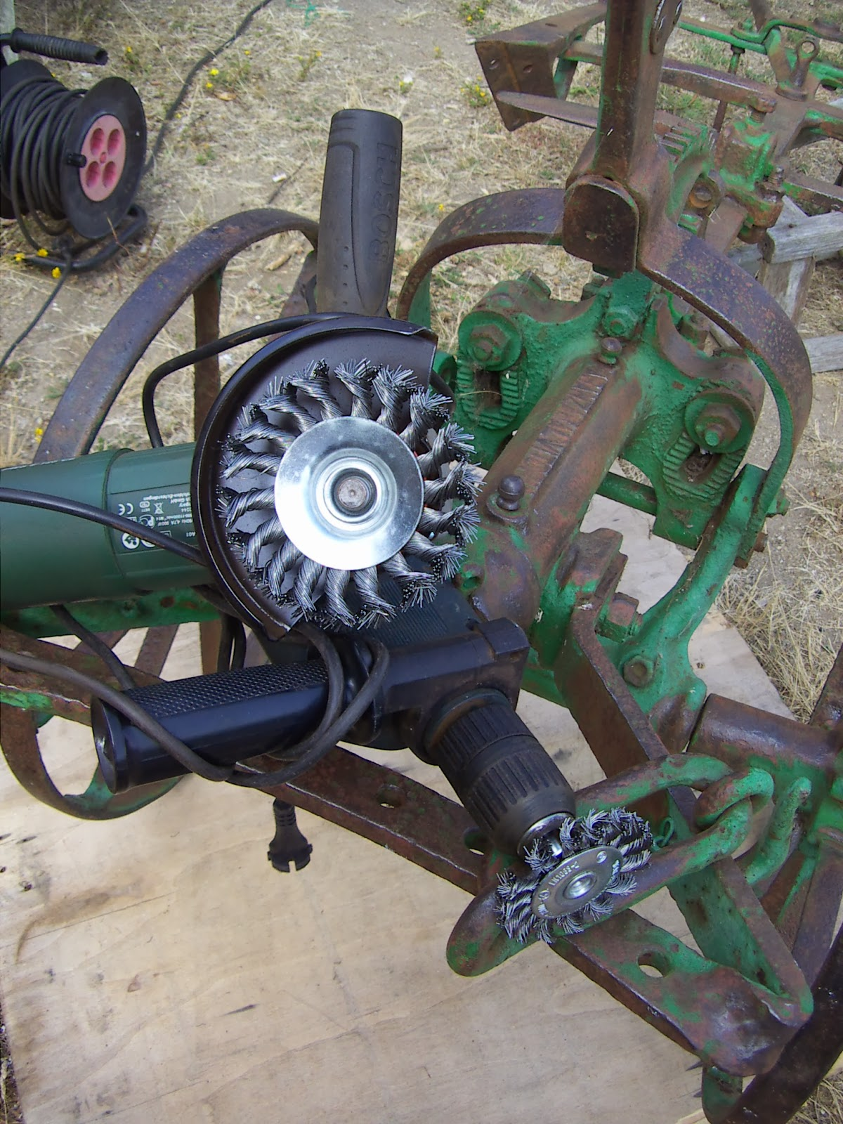 El rinc n de un aprendiz restauraci n de un antiguo arado - Como limpiar hierro oxidado ...