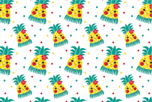 Miss Hawaiian Pineapple Pattern by Haidi Shabrina