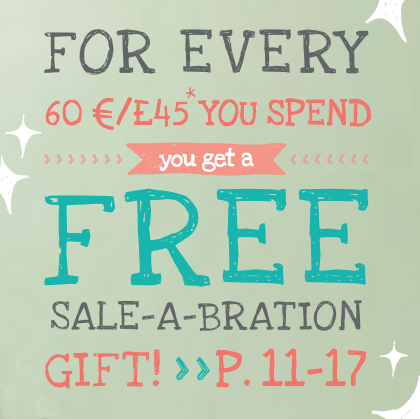Spend £45 on Stampin' Up with Crafting clare and choose a free Sale-a-bration gift
