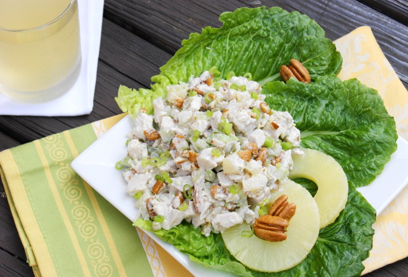 ... one of my favorite chicken salads, this Pineapple-Pecan Chicken Salad
