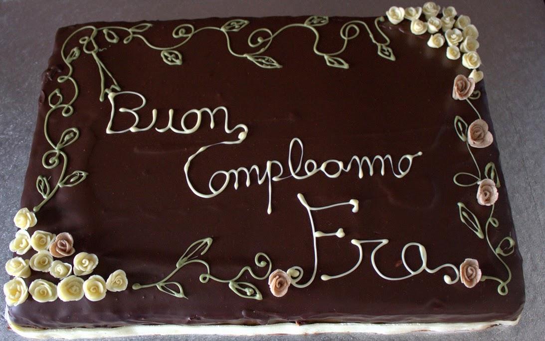 Conosciuto Torta di buon compleanno con decorazione floreale - LaFarrina  RL08