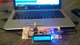 """""""Circuito en Protoboard Arduino y Display LCD 16x2"""""""