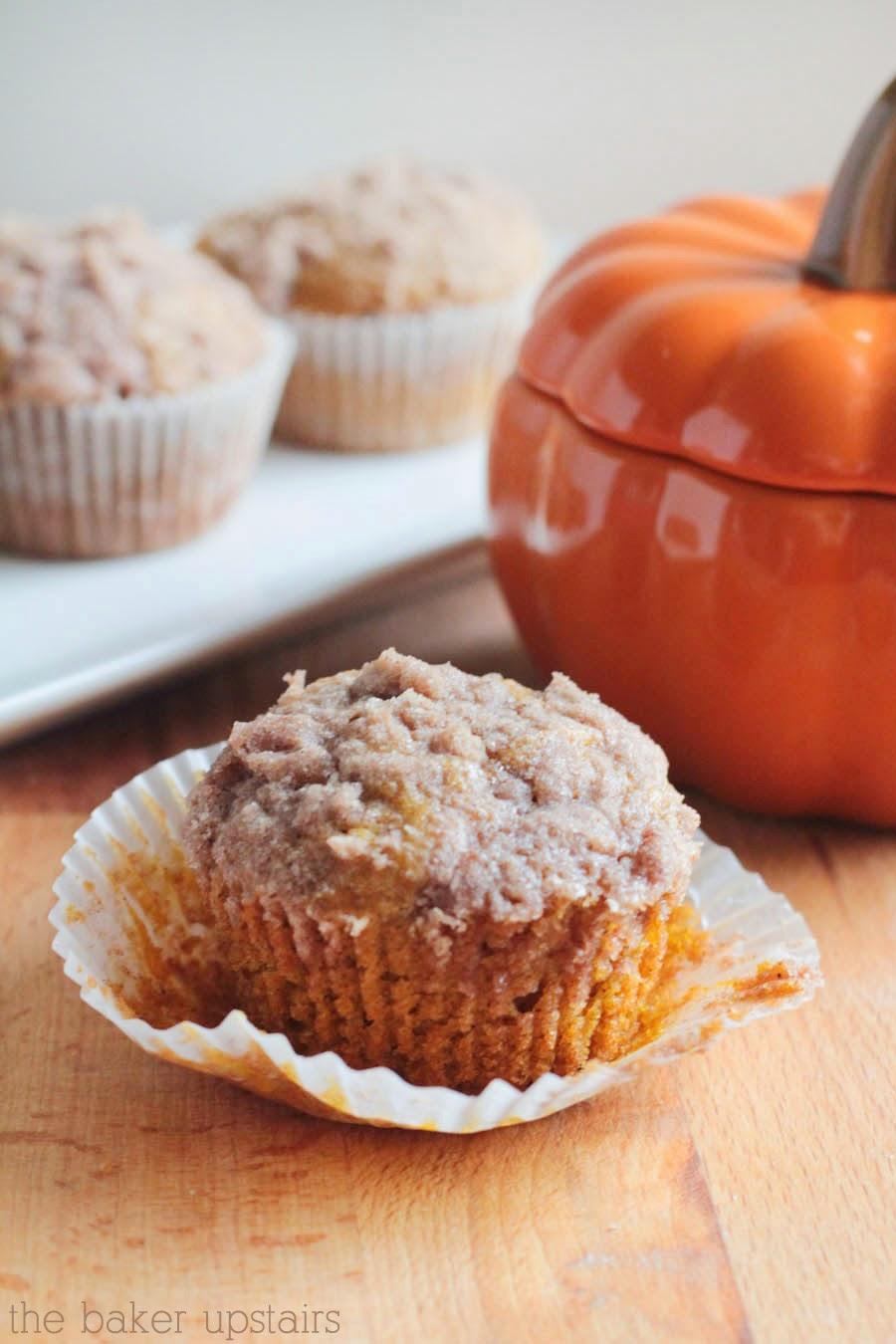 The Baker Upstairs: pumpkin cream cheese muffins