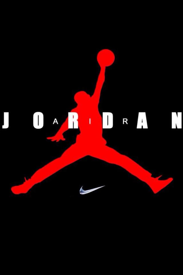 gallery for air jordan logo red