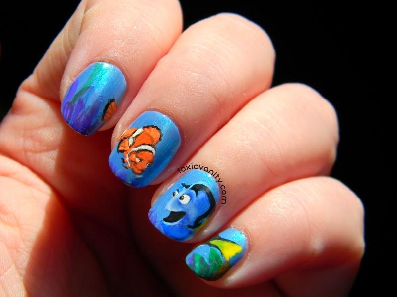Uñas decoradas con lindos dibujos animados-uñas decoradas con caricaturas-caricaturas en uñas-hermosas-lindas-modernas-originales