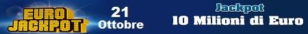 Eurojackpot estrazione di venerdi 21 ottobre 2016
