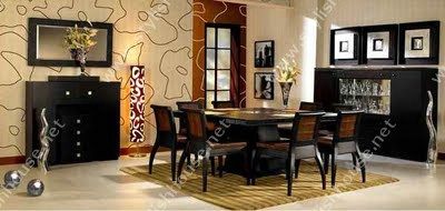 Stylish Pharaonic black dining table