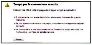 rete wi-fi messaggio di errore
