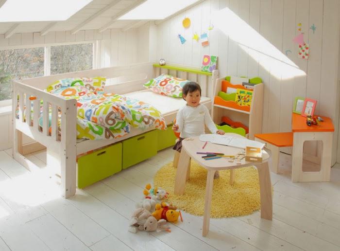 Japanese toddler single bed E-KO