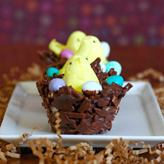 Chocolate Peanut Butter Peep 'Nests'