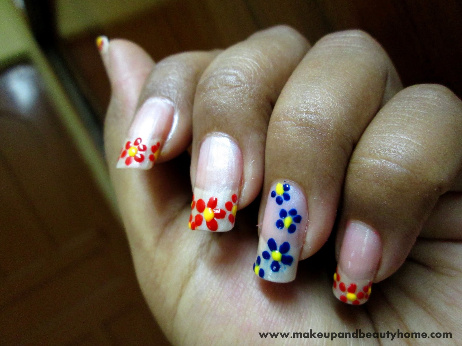 Do It Yourself Easy Flower Nail Art : 6 Easy Steps - Makeup And ...