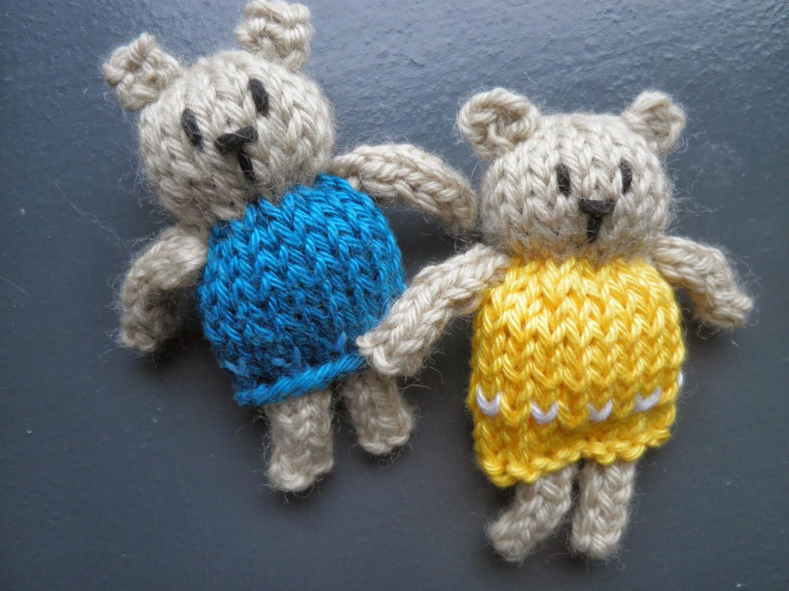 Gebreide mini-beertjes