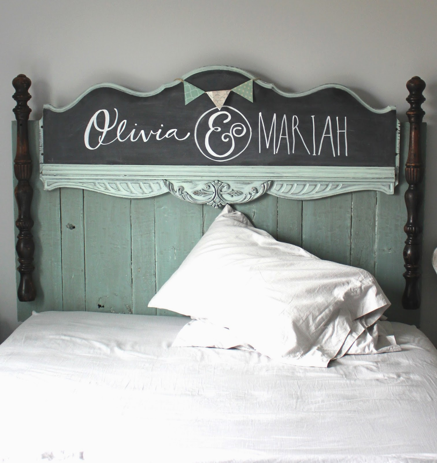 Namely Original: DIY Girls Headboard
