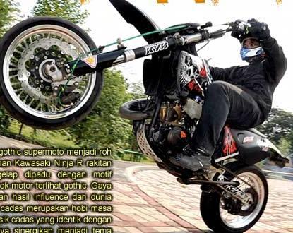 Modif Kawasaki Ninja R 1997 Modern Gothic Supermoto Modifikasi