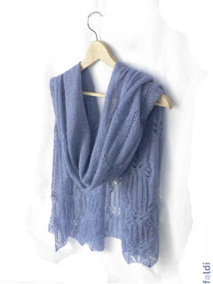 machine knitted passap butterfly lace shawl scarf