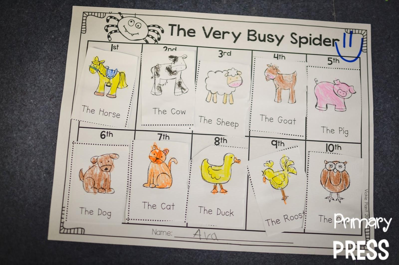 spiders primary press