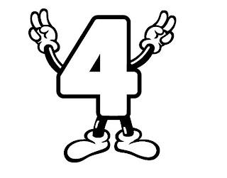 Números para colorir pintar 4