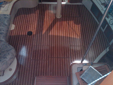 Previous Project - 38&#39; sailboat Built teak/holly floor boards