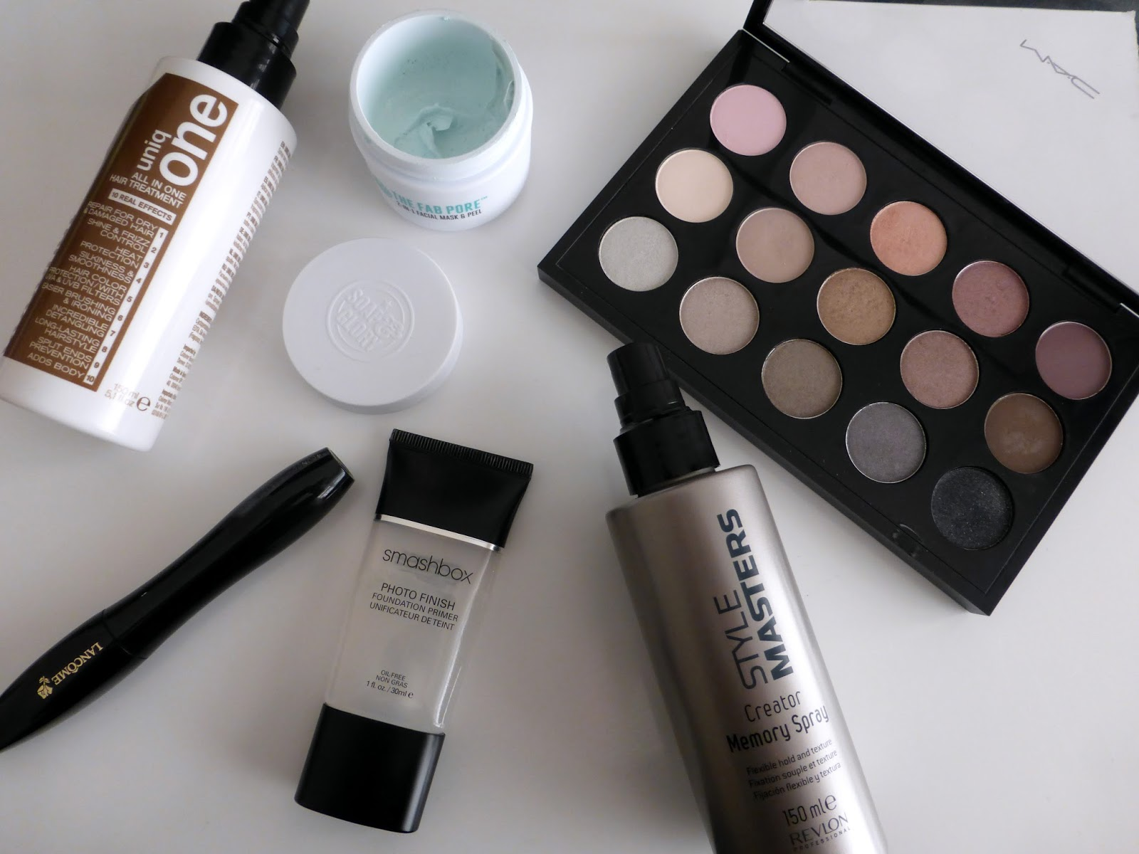 mac cool neutral palette, uniqone, revlon professional, soap and glory 2 in 1 face mask, lancome hypnoses drama, smashbox