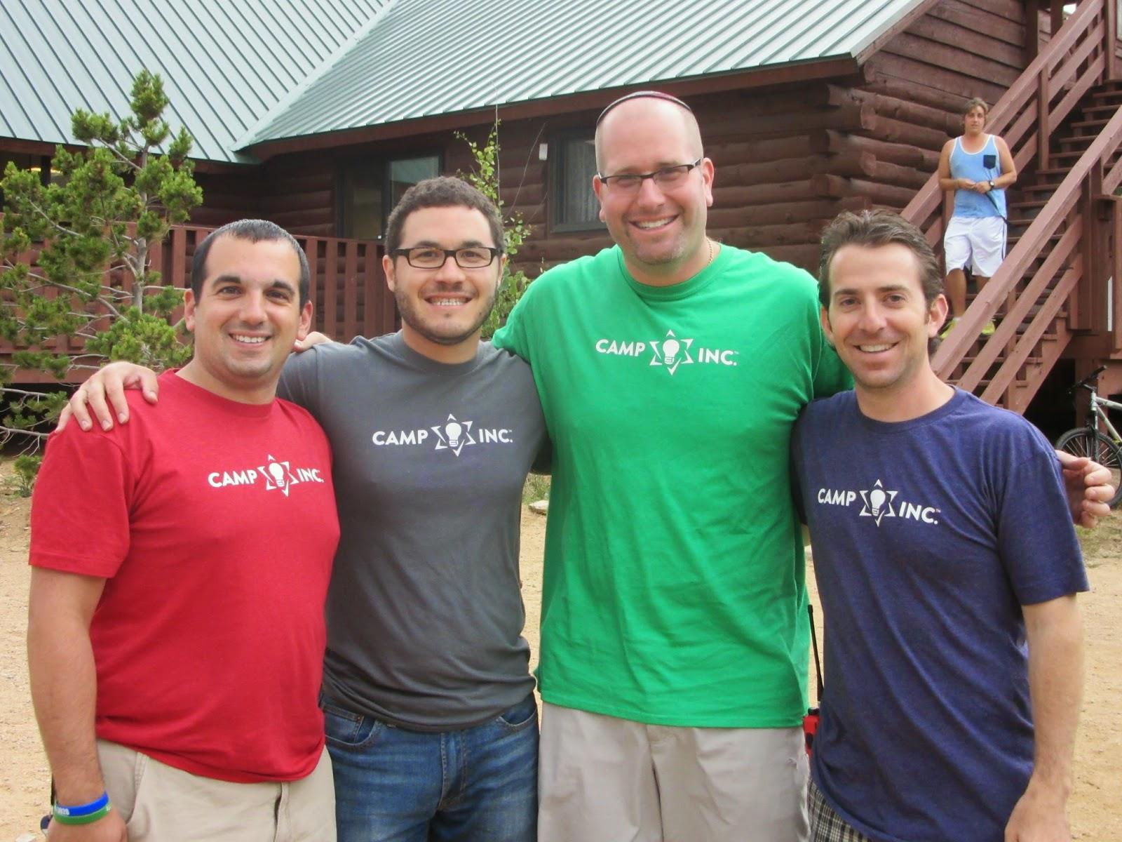 Rabbi Jason Miller with the leadership team of Camp Inc. (Dan Baer, Jonathan Lev and Josh Pierce)
