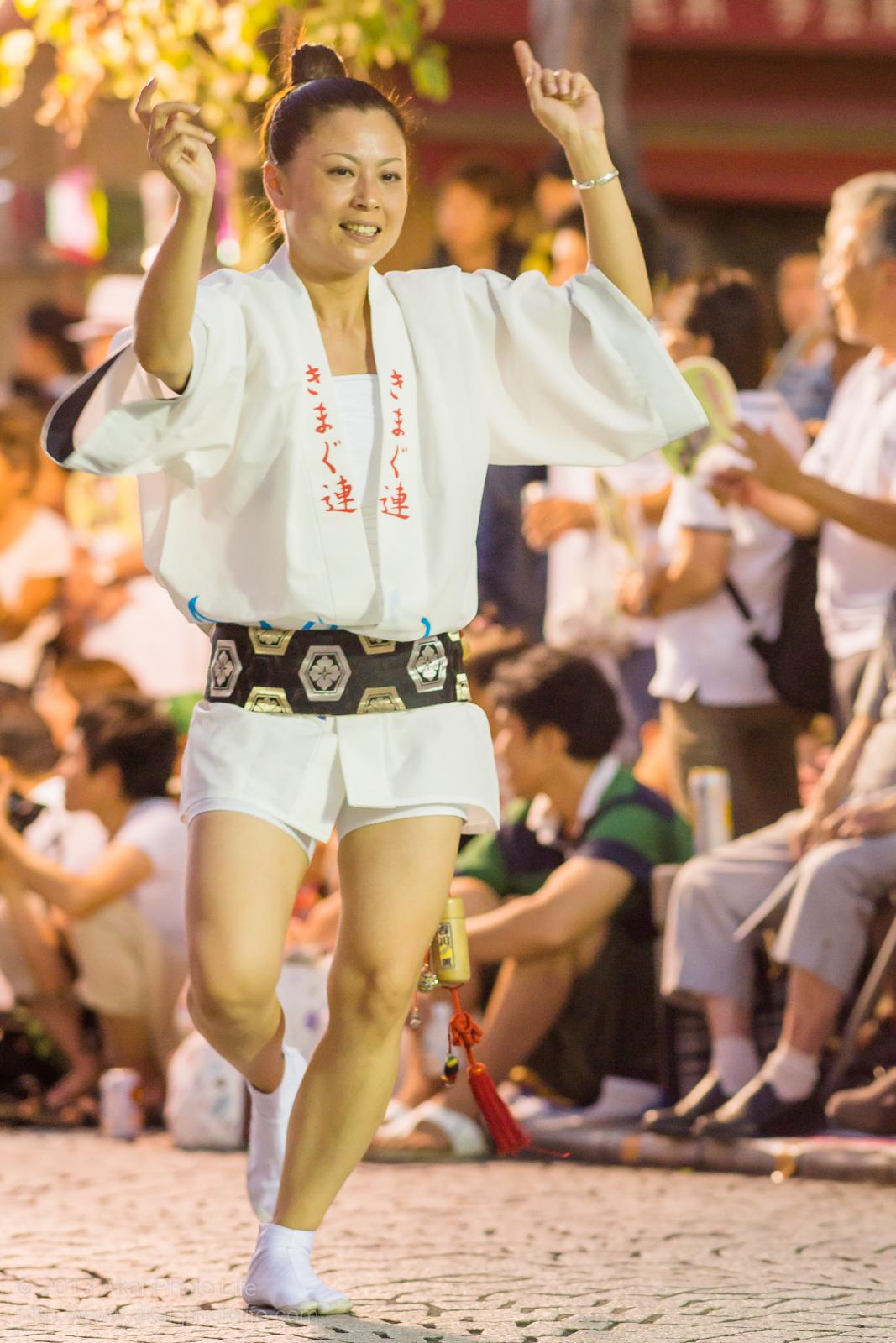 三鷹阿波踊り、きまぐ連の女性による男踊り