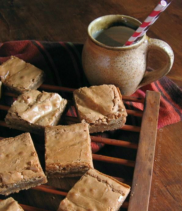 Brown Sugar-Rum Blondies |une gamine dans la cuisine