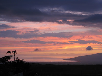 Sunset over Maalaea Bay from Pukalani, Feb 2011