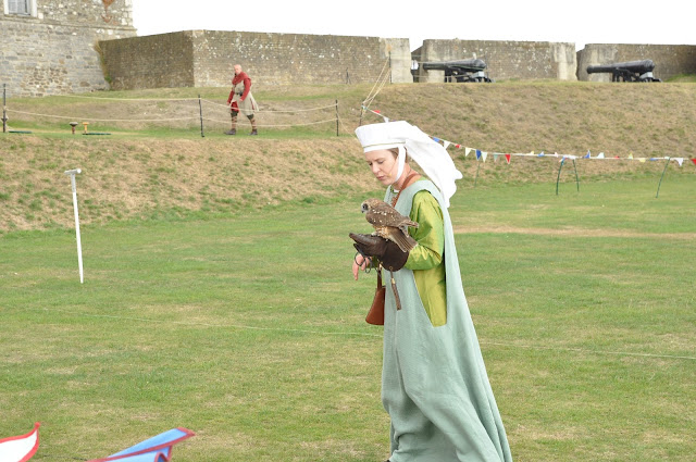 Falconry+Dover+Castle+woman
